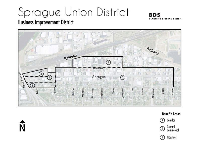 Business Improvement District Map East Spokane Business Association